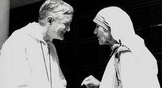 Irmão Roger de Taizé com Madre Teresa de Calcutá - pt