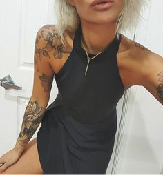 gold jewellery and black dress are classic