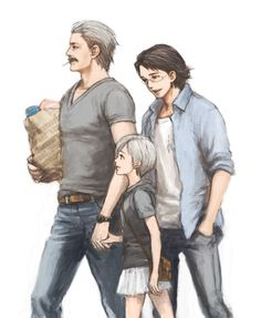 Modern snake,otacon and sunny! From metal gear solid