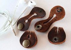 Image result for leather cable winder