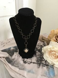 Ivory Stone Necklace by HadarahBoutique on Etsy