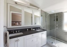 Grey-shower-tile-bathroom-contemporary-with-ring-pulls-mosaic-tile.jpg (990×692)