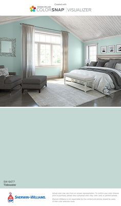 I found this color with ColorSnap® Visualizer for iPhone by Sherwin-Williams: Tidewater (SW 6477).