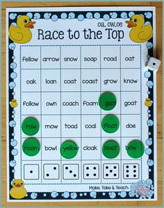 Activities for Teaching the oa/ow/oe Digraphs - Make Take & Teach - oa ow oe activities - Teaching Phonics, Phonics Activities, Kindergarten Activities, Learning Activities, Learning Tools, Alpha Phonics, Family Activities, Teaching Resources, First Grade Phonics
