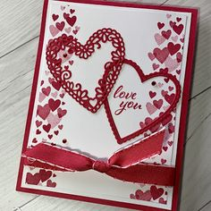 Stampin' Up! Forever Lovely Stamp Set is a Stampin' Up! Valentines Greetings, Valentine Greeting Cards, Love Valentines, Greeting Cards Handmade, Valentine Ideas, Wedding Anniversary Cards, Wedding Cards, Stamping Up Cards, Heart Cards