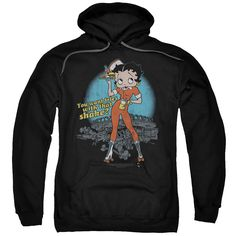 Black Hooded Sweatshirt, Hooded Sweatshirts, Retro Fan, Tomboy Fashion, Tomboy Style, Cool Hoodies, Betty Boop, Order Prints, Aesthetic Clothes