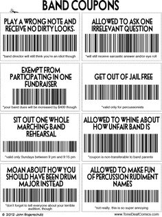 TONE DEAF   A comic for and about anyone that has ever been in band. Funny! But could also be adapted for elem music class behavior rewards.....