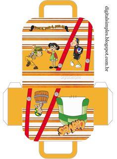 "Kit Aniversário Personalizado ""Turma do Chaves"" para imprimir - Convites Digitais Simples"
