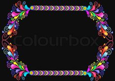 Stock vector of 'Background with braided line and pattern from bright colour drop of the paint'