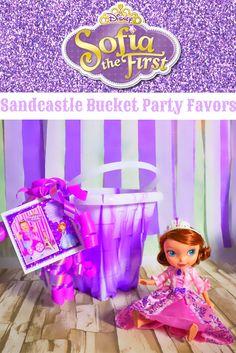 SANDCASTLE BUCKET PARTY FAVORS