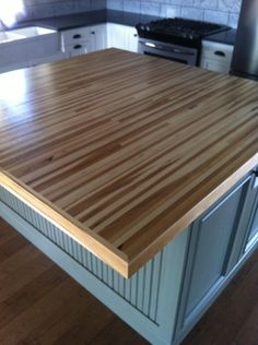 Wood countertop! I will have this soon!