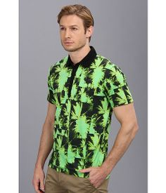 Palm printed polo from Diesel