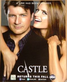 Castle with Nathan Fillion as Richard Castle and Stana Katic as Kate Beckett 10 x 13 Poster Tv Castle, Castle Tv Series, Castle Tv Shows, Castle Beckett, Castle 2009, Movies And Series, Best Series, Movies And Tv Shows, Nathan Fillon