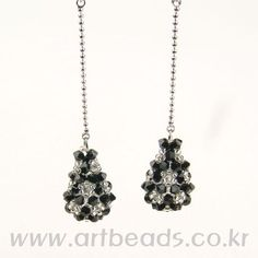 Free tutorial by diagram - droplet earrings ***See visual pin of earrings using different beads***