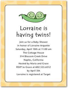 Studio basics: baby shower invitations, Peapod Party