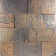 3D Copper Design Mosaic Tile