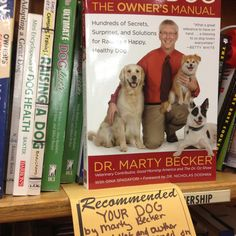 Look what I found in pet section of Powell's book store. They have over one million books in stock.
