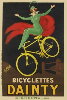 Bicyclettes Dainty by Mohr 1923 France - Beautiful Vintage Poster Reproduction. Shop bicycles posters online at www.postercorner.com