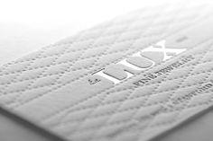 Beautiful Embossed Card Certainly Expresses Lux Design Graphique Graphisme Tiquette Logo Industriel