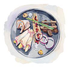 Food Illustrations for Traveller Magazine on Behance