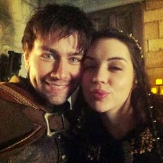 Bash (Torrance Coombs) and Queen Mary (Adelaide Kane) behind the scenes on Reign #Mash