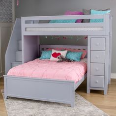 All-in-One Twin Standard Bed with Staircase