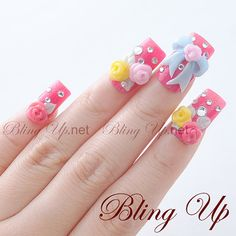 322 Best Japanese 3d Nail Art Images On Pinterest Bling Nails