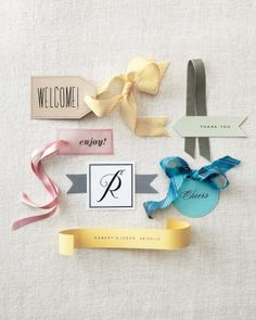 Favor Tags Six Ways from Martha Stewart