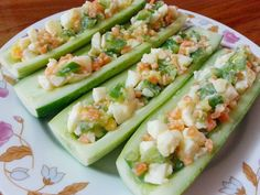Egg Salad on Cucumber Healthy Appetizer Candy Healthy . Peach Appetizer, Greek Appetizers, Appetizer Salads, Easy Appetizer Recipes, Healthy Appetizers, Dinner Recipes, Healthy Egg Recipes, Healthy Recipe Videos, Healthy Snacks For Diabetics