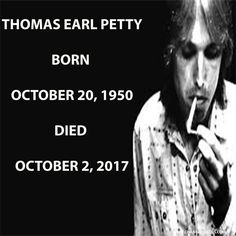 When did Tom Petty die? Tom petty died of cardiac arrest October Celebrities Who Died, Celebrity Deaths, Thanks For The Memories, Tom Petty, Toms
