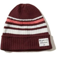 Hollister Patch Slouchy Beanie (€18) ❤ liked on Polyvore featuring accessories, hats, burgundy, slouchy beanie hat, saggy beanie, beanie hats, burgundy hat and slouch beanie hats