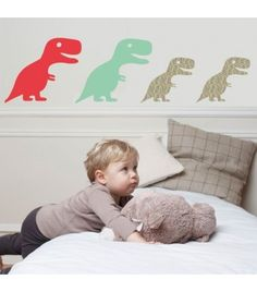 Stickers enfant Famille Dino