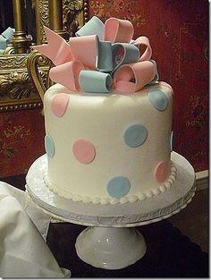 Gender Reveal Cake..  maybe?