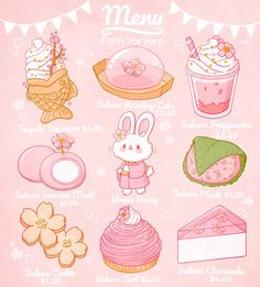 Cute Food Drawings, Cute Kawaii Drawings, Kawaii Doodles, Cute Doodles, Kawaii Art, Cute Pastel Wallpaper, Kawaii Wallpaper, Cute Food Art, Cute Art