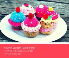 Tutorial #124: Cupcake Amigurumis a Crochet para Zurdos | CTejidas [Crochet y Dos Agujas]