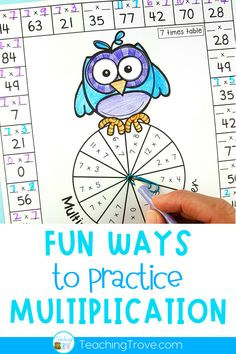 Have your class practice their multiplication facts from 0 times to 12 times with this set of multiplication worksheets. This NO PREP activity contains 23 printable hands on multiplication sheets perfect for improving number fact fluency. Use them in your math center or as a fun alternative to regular homework. They are also perfect for fast finishers
