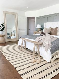 Room Ideas Bedroom, Cozy Bedroom, Dream Bedroom, Home Decor Bedroom, Master Bedroom, Neutral Bedroom Decor, Interior Livingroom, White Bedroom, Bedroom Inspo