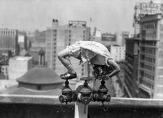 ...this unknown child acrobat...being amazing on the rooftop in LA in 1935...