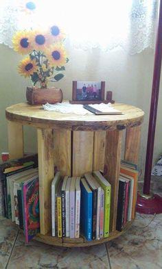 ALC RÚSTICOS : Mesa de Centro e guarda livros