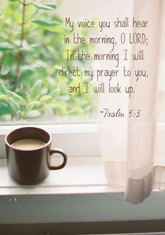 Salmos 5:3 Oh Jehová, de mañana oirás mi voz; De mañana me presentaré delante de ti, y esperaré.♔