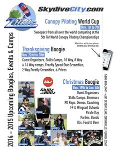 Skydive City Events Calendar Poster