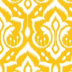 Ikat Damask - Golden Rod fabric by pattysloniger on Spoonflower - custom fabric