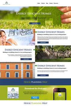 First draft for previous design. Website for House Planing Help, moondog client.
