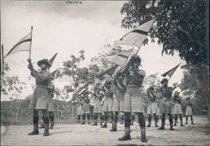 1941 Press Photo Singapore Malay Regiment Military Native Soldiers ...