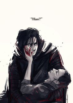 elithien One hella painful commission of Kylo Ren holding his dying mother with her mistaking Ren for Han as she slowly withers away  (:3」∠)_. For commission Inquiries [x]