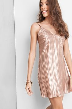 vestido plissado metalic | Dress to