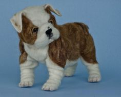 "Frankie"" the English bulldog puppy needle felted by award winning ..."