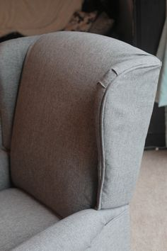 step-by-step instructions for reupholstering a wingback recliner