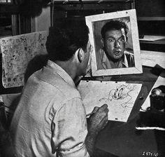 Pour trouver l'inspiration, les illustrateurs qui se cachent derrière les légendaires dessins animés Disney mais aussi chez Warner Bros, n'allaient pas chercher plus loin que le bout de leur nez. Aidés d'un miroir, ils utilisaient leur propre visage comme puits d'inspiration pour créer les expressions des personnages qui nous ont bien fait rire étant petits.
