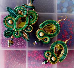 Soutache set of earrings and necklace by caricatalia on deviantART